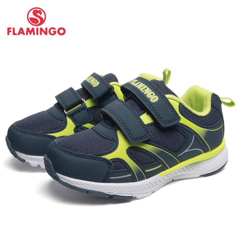 FLAMINGO marque respirant arc crochet & boucle TPR enfants chaussures de Sport en cuir taille 25 31 enfants Sneaker pour fille 91K YC 1372/1373 - 4