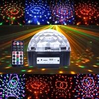 New Portable Digital Stage Light Lighting Ball MP3 USB SD Card Play Music LED RGB Disco DJ Party Colorful LED Stage Crystal Ball