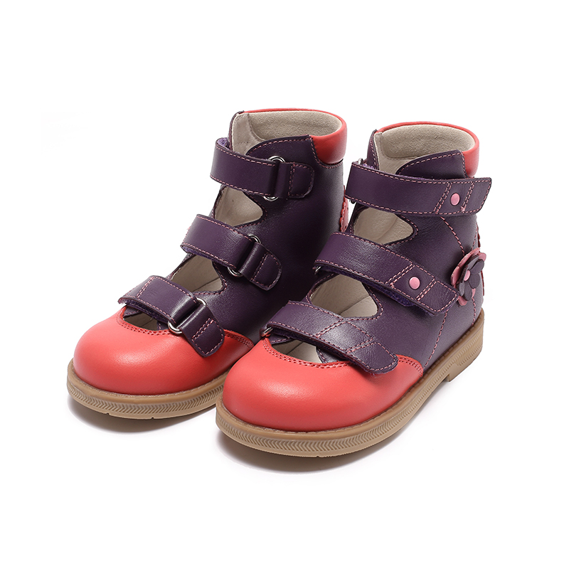 Princepard flambant neuf enfants chaussures d'été crochet boucle fermé orteil enfant en bas âge filles sandales orthopédique sport en cuir véritable bébé filles - 3