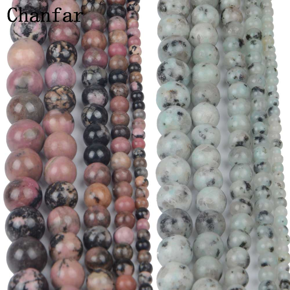 Black line Rhodonite Tianshan Blue Stone Women Jewelry Fashion Making Loose Beads 4 6 8 10 12mm