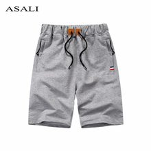Cotton Men Shorts Homme Summer Beach Slim Fit Bermuda Breathable Solid Color Joggers Trousers Elastic Waist Casual Short Pants(China)
