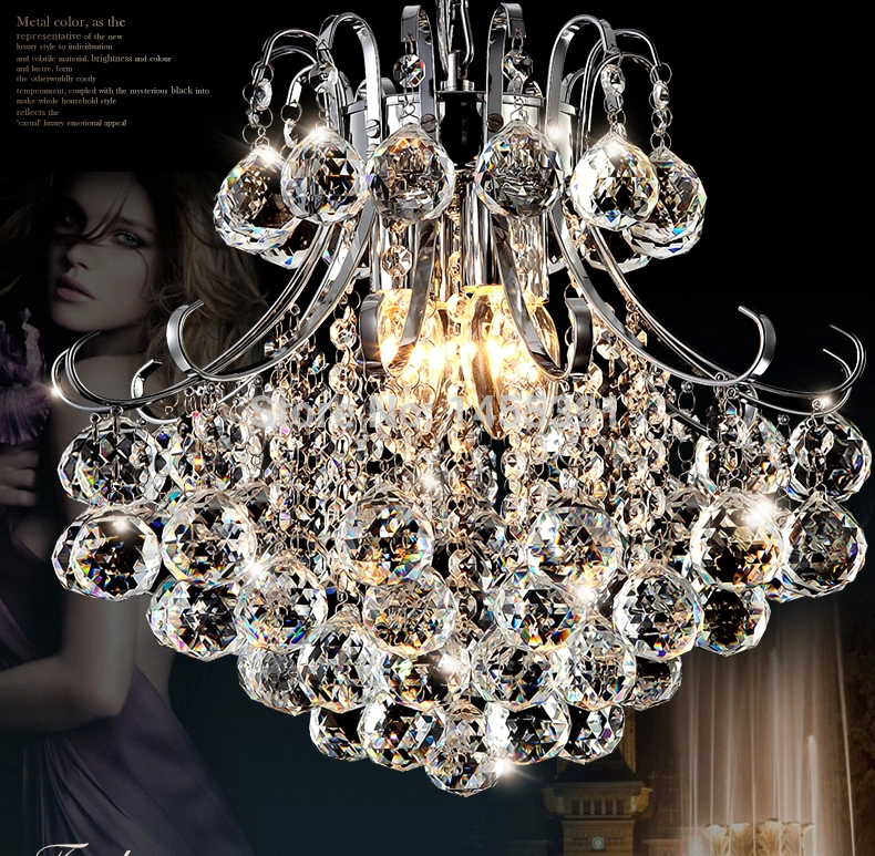 Best Chandeliers For Dining Room: Hot D40cmxH41cm Luxury North European Top K9 Crystal