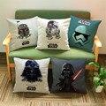 Free shipping Star Wars cartoon cotton Linen decorative cushion cover Sofa Throw Pillow Cover Chair Car  Pillow Case