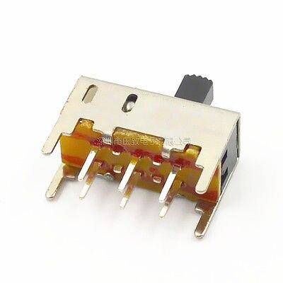 10Pcs 5mm Knob 2 Position DPDT 2P2T Mini Vertical Slide Switch 6 Pin SS22H02G5