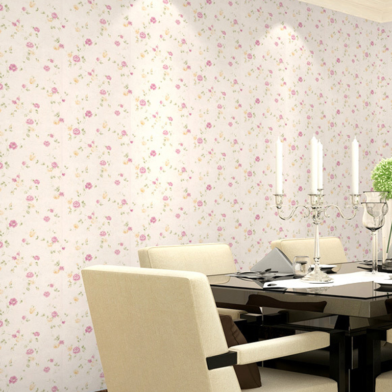все цены на Romantic Pastoral Small Flowers Wallpaper Non-woven Floral Mural Papel de Parede Bedroom Wall Paper for walls home decor JR057 онлайн