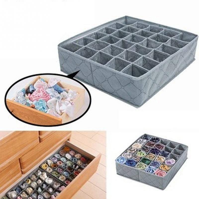 Boxes-Organizer Underwear Drawer Storage Christmas-Gift-Box Non-Woven-Sock Classified