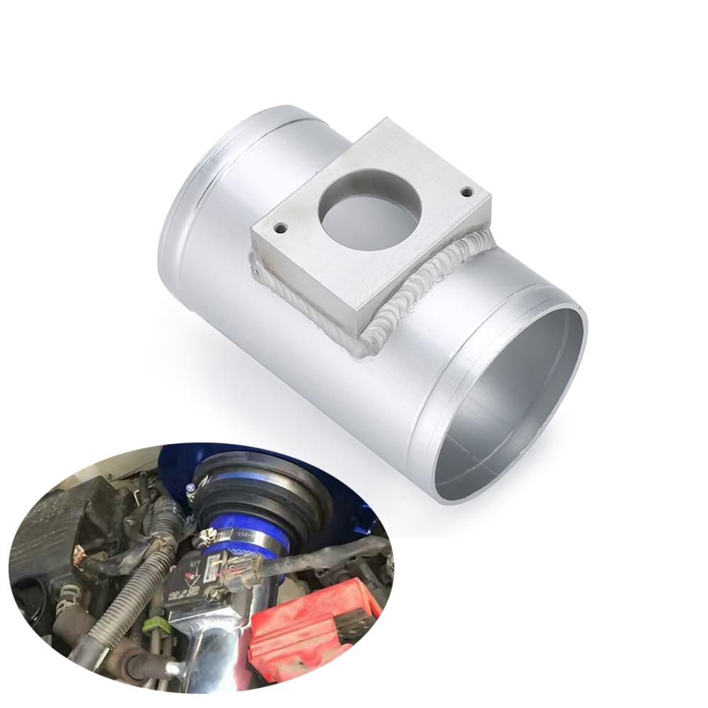 Montaje de Sensor de flujo de aire compatible con Mitsubishi ASX, Lancer Outlander MAF, adaptador para medidor de entrada de aire, tubo de 63mm y 76mm