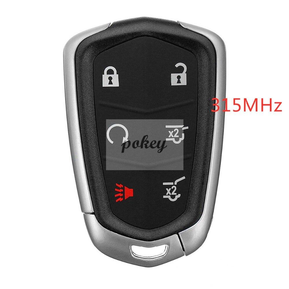 Keys for Cadillac keyless entry remote controlled car smart keys 6 button 315MHz 46 chip ESV 2015 2016 2017 2018 car keys for th