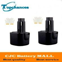 High Quality 2PCS 9.6V 3.0Ah NI-MH Replacement Power Tool Battery for Dewalt DE9062  DE9036 DE9061 DW9061 DW9062