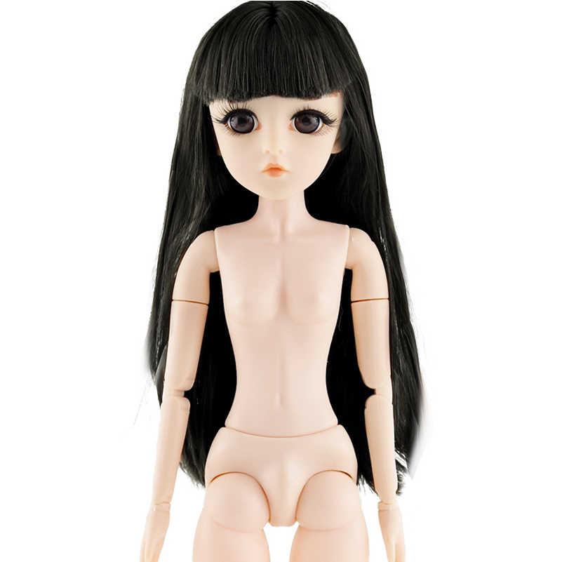 Nieuwe 42cm 26 Beweegbare Gezamenlijke BJD Poppen Speelgoed met 3D Ogen Wimper DIY Naakt Naakt Hoofd Pop Lichaam Vrouwelijke bjd Poppen Speelgoed Voor Meisjes Gift