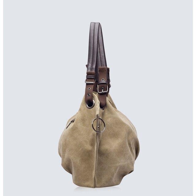 Women Fashion Canvas Handbags Retro Large Capacity Female Shoulder Bags Stylish Casual Crossbody Bags Classic Solid Totes TTOU 3