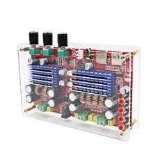 AIYIMA-Tarjeta amplificadora Digital TDA3116 con Bluetooth, tarjeta de Audio 2x60W + 2,1 W con funda, 100 canales