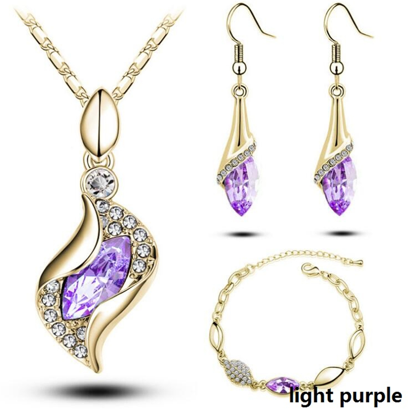 HTB1ovqba1LM8KJjSZFqq6y7.FXab - Gold Silver Color Jewelry Sets Bridal Necklace Earrings Bracelet Wedding Crystal Sieraden Women Fashion Rhinestone Jewellery Set