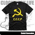 Novo 2016 frete grátis CCCP comunismo Combined Community Codec de casal roupas comédias homem homens macho t-shirt de manga curta