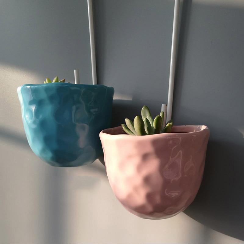 macetas decorativas de cerámica maceta de pared contenedor colgante - Productos de jardín - foto 3
