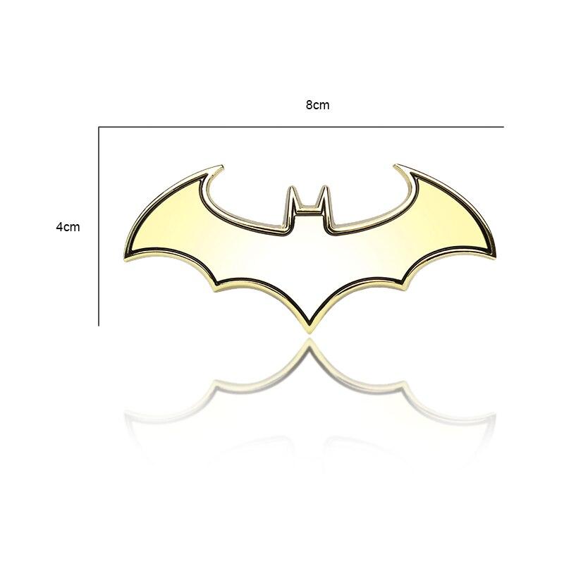 car styling Car Styling 3D Metal Cool Bat Sticker Batman Badge Emblem Tail for Derways Aurora Cowboy Land Crown Saladin Shuttle