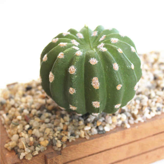 realistic artificial cactus succulents ball prickly pears fake Artificial Plants for Office Decor