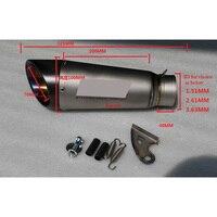 MOKALI индивидуальные Универсальный 51 до 65 мм из нержавеющей стали moto rcycle выхлопных углерода echappement moto для BMW S1000RR 15 16 лет