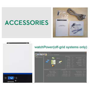 Image 5 - 블루투스 인버터 3000W 500Vdc PV 230Vac 24Vdc 80A MPPT 태양열 충전기 지원 모바일 모니터링 USB LCD 제어