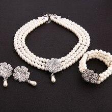Набор аксессуаров для костюма Одри Хепберн, завтрака в Тиффани 1950 s, жемчужное ожерелье, серьги, браслет, женский аксессуар для костюма