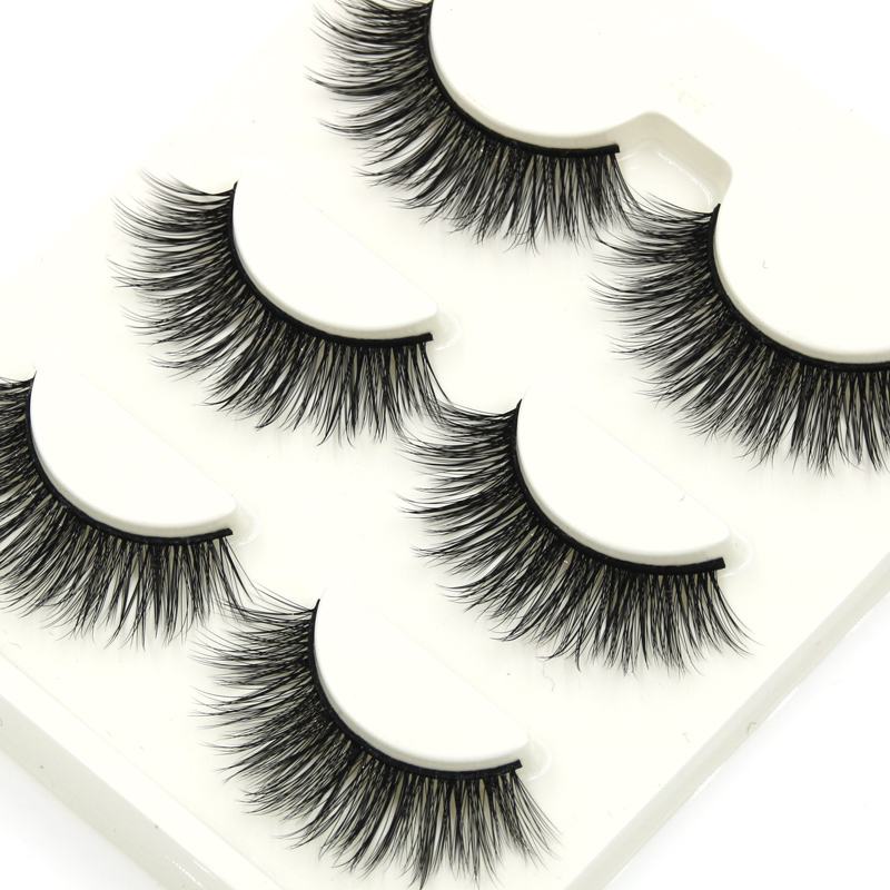 Beauty Long Natural Makeup Thick Fake False Eyelashes Black Eye Lashes Extension Tools Cotton Thread False Eyelashes Beauty Essentials
