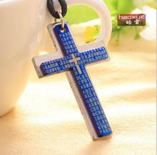 1pc New arrival rope Pendants Bible and Cross Necklaces men jewelry men's necklace fashion necklace for women