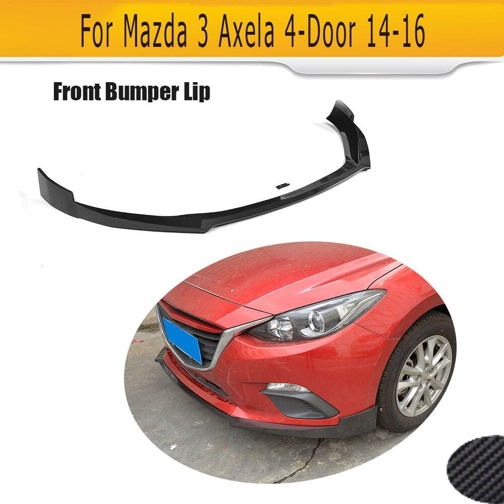 Carbon Fiber Racing Car Front Lip Chin for Mazda 3 Axela Sedan Hatchback 4 Door 14-16 G GS GX T I Sport SV Car Style цены