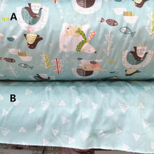 160cm*50cm Polar bear cotton fabric baby cloth kids bedding bed linens curtains pillow patchwork fabric sewing tissue tecidos(China)