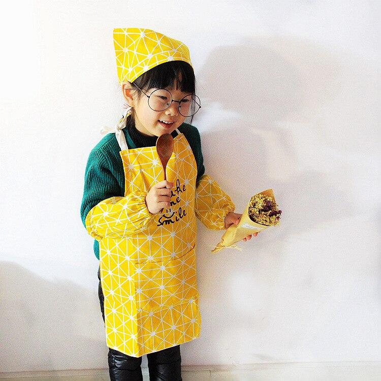 1 Pc Bambini Cucina Bavaglini Coreano Puro Modello Di Cottura Di Cottura Barbecue Bambini Grembiule Bib Usura Forma Su I Capelli Del Bambino Del Ragazzo Della Ragazza Di Uso Design Moderno