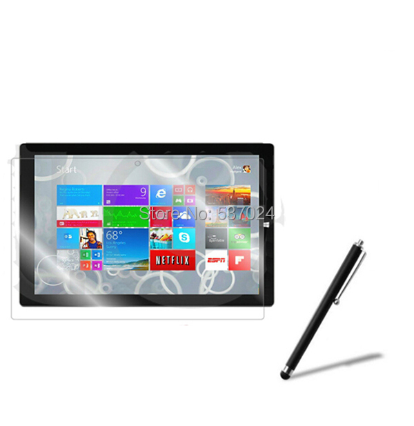 """New Matted Anti-Glare Screen Protector Films Matte Protective Film Guards + Stylus For Microsoft Surface Pro 3 1631 12"""" Tablet"""
