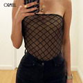 ORMELL Women Jumpsuit Romper 2017 Spring Sexy Off Shoulder One Piece Suit Summer Playsuit Mermaid Color Overall Bodysuit