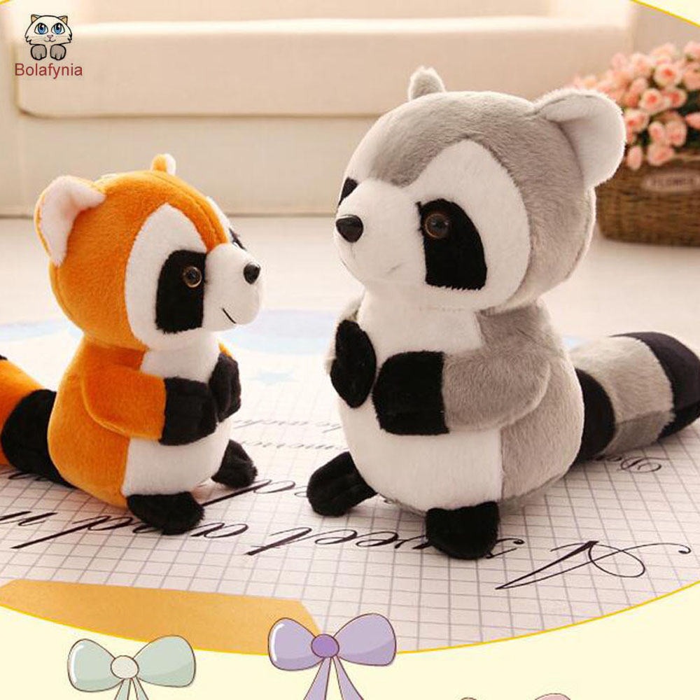 BOLAFYNIA Children Plush Stuffed Toy cute small Raccoon Baby Kids Toy for Christmas Birthday gift