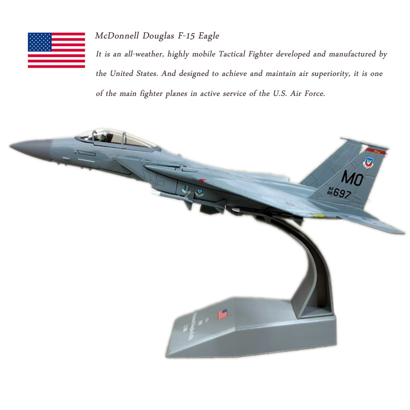 AMER 1/100 Scale Military Model Toys USAF F-15A F15 Eagle Fighter Diecast Metal Plane Model Toy For Collection/GiftAMER 1/100 Scale Military Model Toys USAF F-15A F15 Eagle Fighter Diecast Metal Plane Model Toy For Collection/Gift