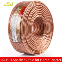 JSJ 14GA 2x2.36 DIY HIFI Transparent OFC Pure Copper Car Speaker Wire Installation Cable Home theater DJ System stereo high end(China)