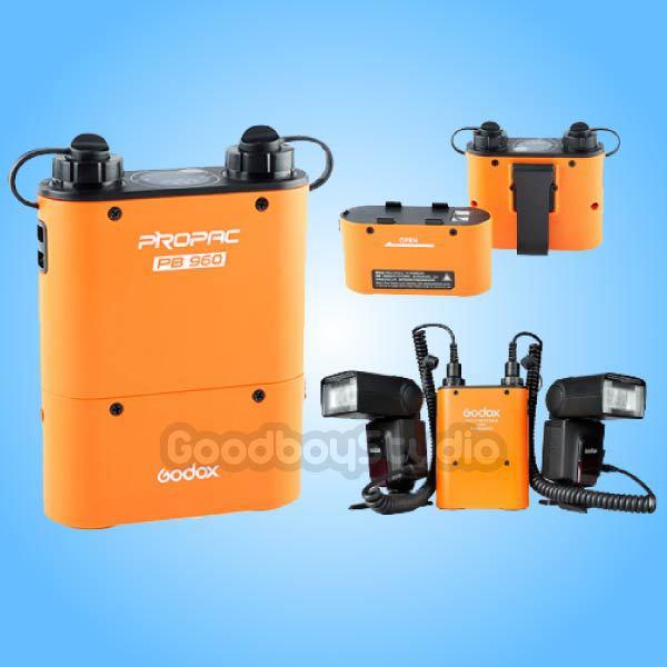 Godox PB960 Orange Dual Output Flash Power Battery Pack for Canon 580EX II 5D Mark III godox pb960 dual output flash battery power pack 4500mah adapter cable for canon nikon sony godox yongnuo flash black