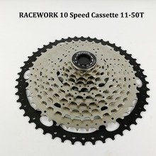 10 Speed Cassette 11-50 MTB Fit for Mountain Bike, MTB, BMX, SRAM Shimano Sunrace Freehub Body