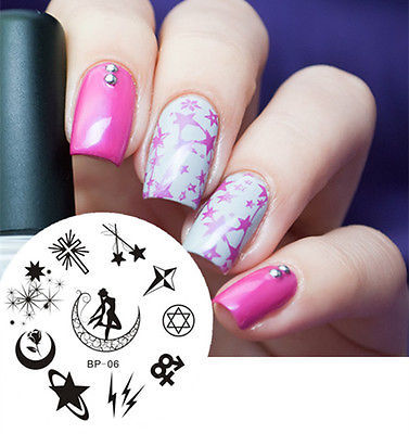 Sailor Moon Nail Art Stamp Image Plate Template Born Pretty 06 Tool In Templates From Beauty Health On Aliexpress Alibaba Group