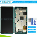 For Sony xperia Z3 compact lcd display Touch Screen Digitizer for sony z3 mini D5803 LCD screen Assembly + Green Frame +Tools