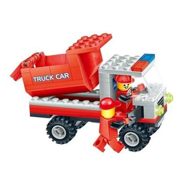 Engineering Vehicles Building Blocks Toy Truck Mixer Bulldozer Roller Construction Bricks