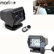Marloo 50W 60W Led Remote Control Search Light 360 Degree Boat Camping Magnetic Base Spot Work Light Boat Truck SUV 12V 24V