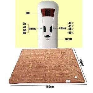 Image 2 - Tapis électrique pour couverture électrique, tapis chauffant automatique, imperméable, 4 vitesses, minuterie, 220V
