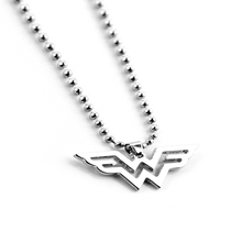Fashion DC Wonder Woman Logo Pendant Comic Geek Necklace with Leather Cord Marvel Super Heroes Jewelry Gold/silver