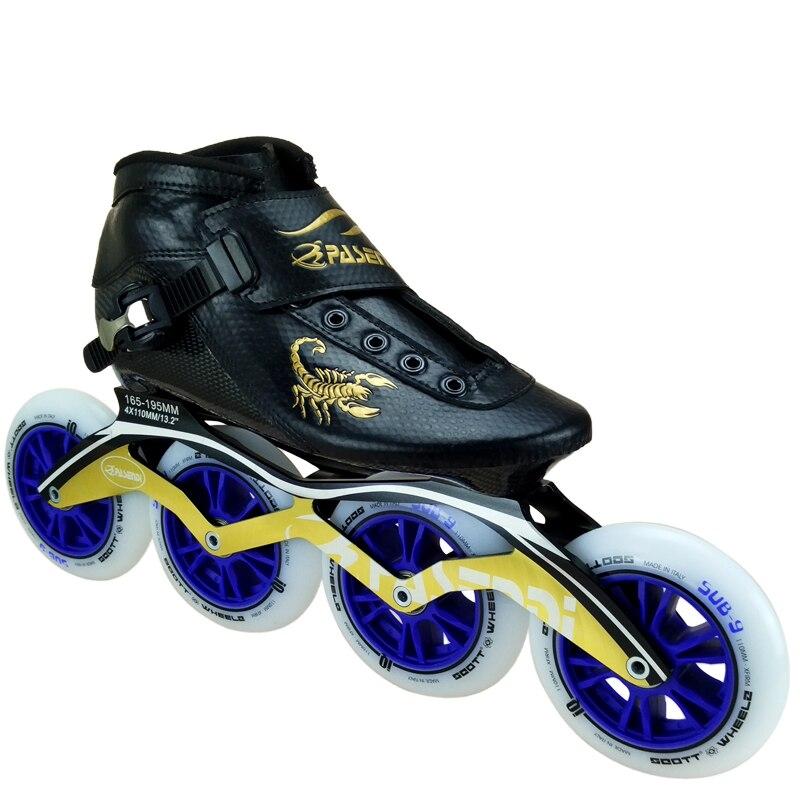 Fibre de carbone chaussures de patinage de vitesse professionnelles femmes/hommes patins à roues alignées chaussures de course chaussures de patinage adulte enfant bottes de patin à roulettes - 6