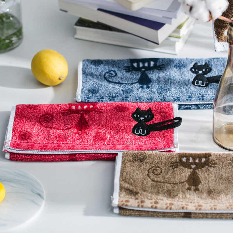 1 шт., хлопковое мягкое детское полотенце с рисунком милого котенка, домашнее полотенце для лица, парное полотенце для лица, Хлопковое полотенце с рисунком кота, s 25x50 см