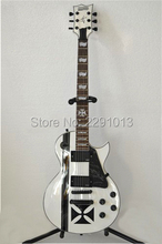Wholesale -Free Shipping Custom Shop White James Hetfield Mahogany Electric Guitar ESP Guitars(China)