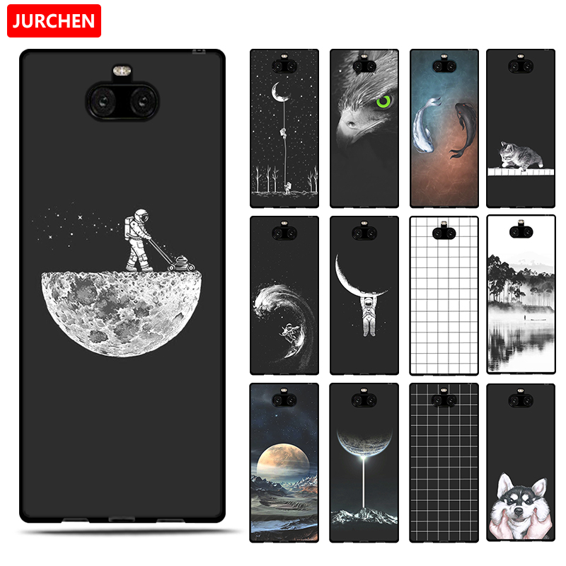 Image 2 - JURCHEN Phone Case For Sony Xperia 10 Cases For Sony Xperia 10 Plus Silicone Cartoon Soft Cover For Sony Xperia10 10Plus Case-in Fitted Cases from Cellphones & Telecommunications