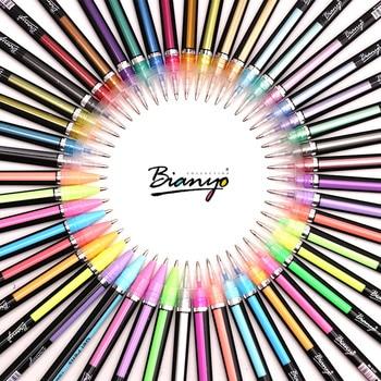 Bianyo ปากกาเจลน่ารักสำหรับโรงเรียน 36/48 สีชุดปากกาโรงเรียนและอุปกรณ์สำนักงาน