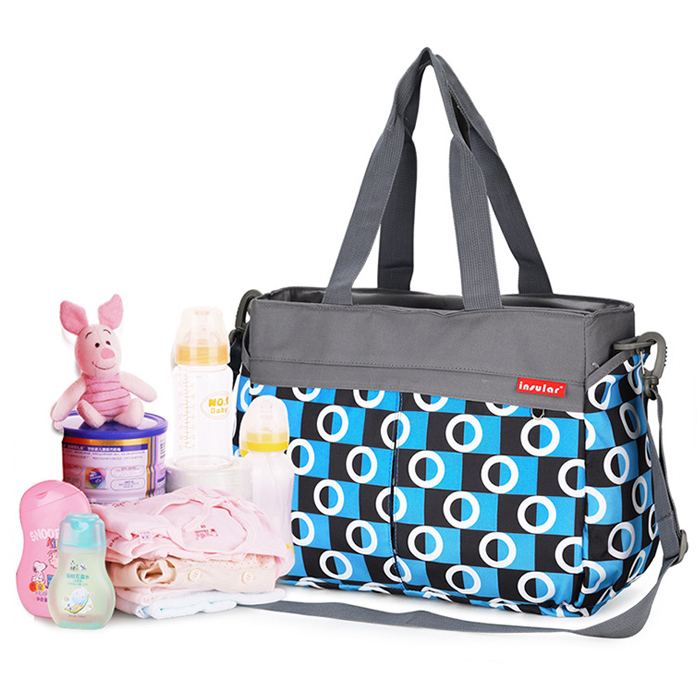 478f2ff2e Bolso de Las Mujeres embarazadas Pañal Del Bebé Bolsa de Transporte Para la Mamá  Multifunción Mujeres Impreso Pañal Cambiante Impermeable Cochecito Bolsa en  ...