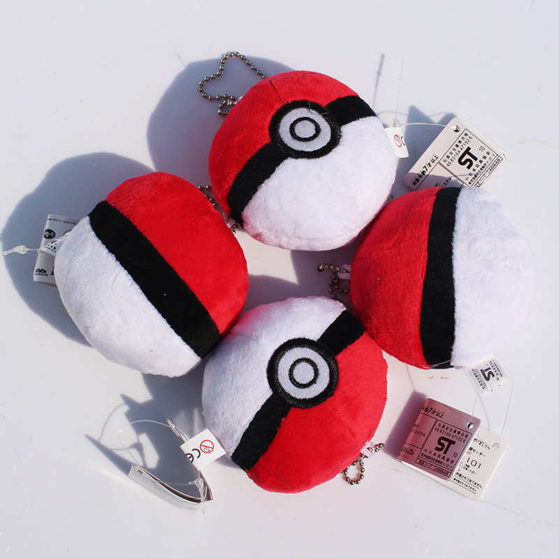 Cartoon plush ball Plush Toy cute Anime pikachu Soft Stuffed Doll kawaii Plush Keychains Pendants Toys