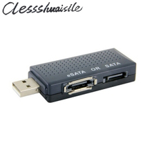 USB 2.0 TO Serial ATA SATA or eSATA Bridge Adapter For SATA Internal External Hard Drive